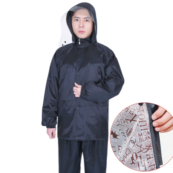 xd Oxford Cloth Motorbike Adult Separate Raincoat (028 double layer suit black)