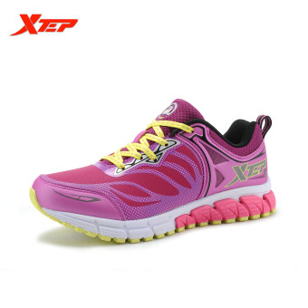 XTEP 2016 Breathable Running Shoes for Women Light Weight Mesh Trainers Shoes Athletic Shoes Women's Sport Sneakers (Deep/Purple) - intl