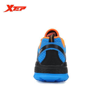 XTEP Brand 2016 New Summer Men's Running Shoes Cross-Country Trail Shoes Air Mesh Sneakers Comfortable Sports Shoes (Blue/Black) - 5