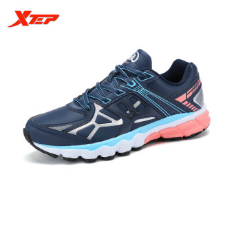 XTEP Brand Profession Light Running Shoes for Women Damping Athletic Sneakers Sports Run Shoes Trainers Men's Shoes (Blue) - intl
