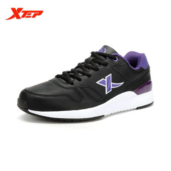 XTEP Brand Runing Shoes for Men 2016 Mens Sneakers Athletic Shoes Man Sports Shoes Trail Running Runner Shoes (Black/Purple) - intl