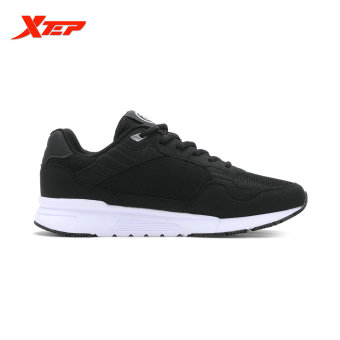 XTEP Brand Running Shoes for Men Sports Shoes Mesh Men's Sneakers Trainer Outdoor Athletic Shoes zapatos de hombre (Black) - intl