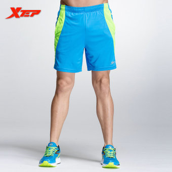 XTEP Mens Sexy Running Shorts Men Running Sport Athletic Short inPolyester Table Tennis Shorts Marathon Shorts (Blue) Price Philippines