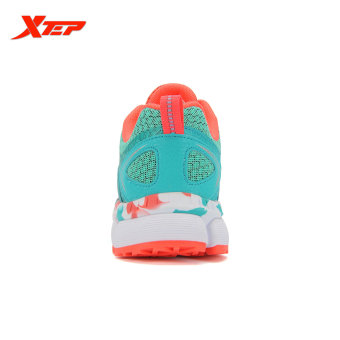 XTEP Summer Running Shoes for Women Brand 2016 Sports Shoes Women's Shoes Sneakers Big Size Ladies Breathable Shoes (Red/Green) - 4