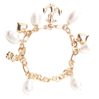 Yassy Pearls FWPCHAIN11 Bracelet (Yellow/White) - picture 3