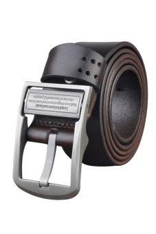 Yazilind Business Leather Belt Brown