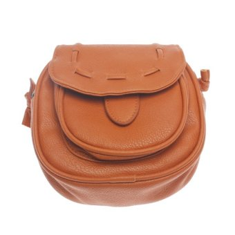 YBC Women PU Leather Vintage Handbag Shoulder Crossbody Bag (Brown)