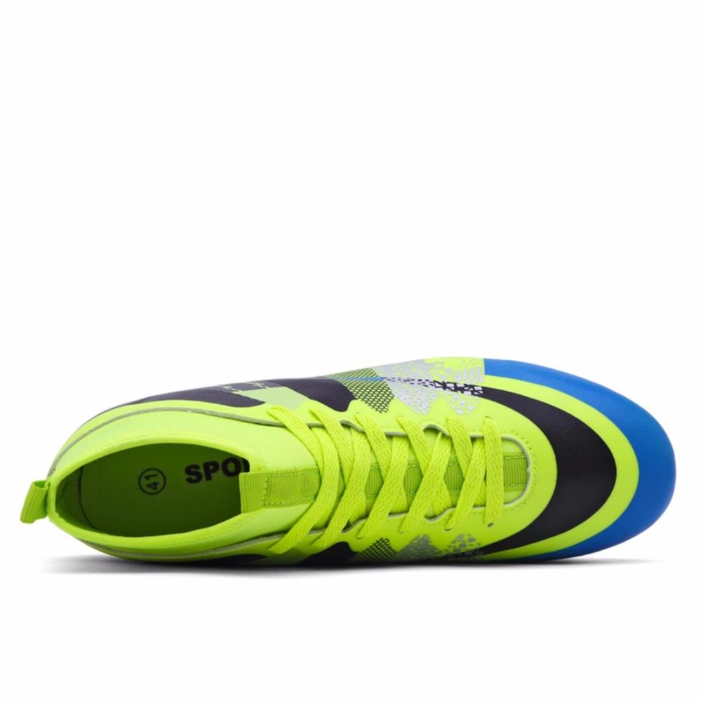 Clzq Mens Outdoor Futsal Shoes Boots Spike Soccer Orange Intl Ardiles 770 Men Kuning 42 Yealon Superfly Football Chuteira Futebol With Sock Cleats High Ankles