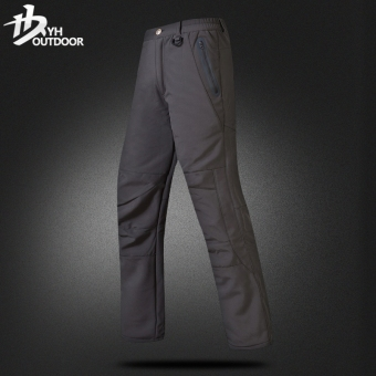 Yihe Outdoor Men and Women winter ski fleece pants trousers pants (Gray)