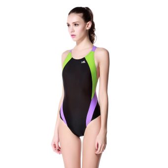 Yingfa women's fitness training Spell color swim clothing one-piece swimsuit (976-1)