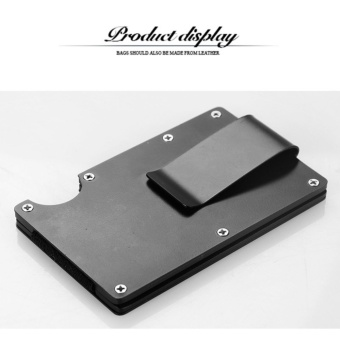 Yixiangqing Metal Mini Money Clip Brand Fashion Black White Credit Card ID Holder With RFID Anti-chief Wallet Black - intl - 4