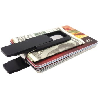 Yixiangqing Stainless Steel Slim Money Clip Wallet Credit CardHolder Black - intl