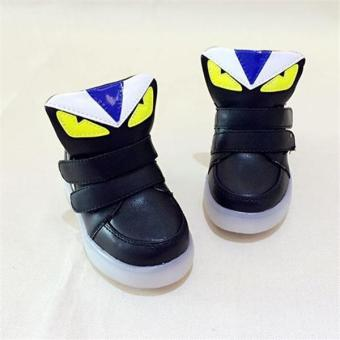 YL The New Children 's LED Lights In The Spring of Sports ShoesBoys and Girls Leisure Students Baby Shoes(Black) - intl - 3