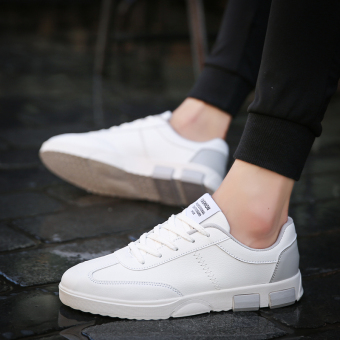 Youth versitile fashion New style casual sports shoes men shoes (And white gray)