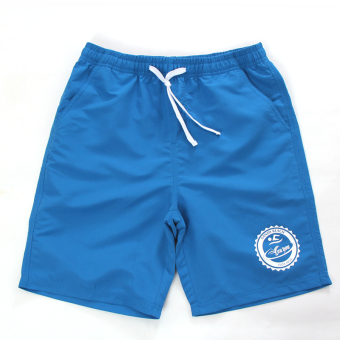 Youyou waterproof boxer short swimming trunks (Color Blue 86802)