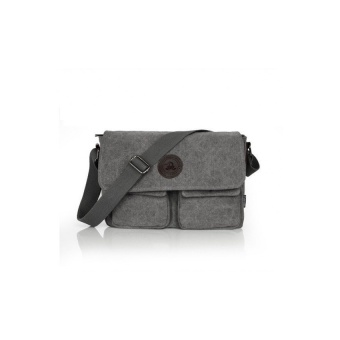 YSLMY Men's Canvas Casual Messenger Shoulder Bag (Grey) - intl Price Philippines