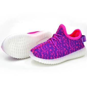 ZAC | 897 Unisex LED Fashion Sneakers Kids Shoes (Pink/Violet)