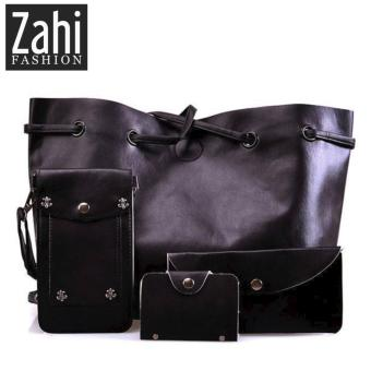 ZAHI FASHION Eunice 4 in 1 Korean Shoulder Bag (Black)