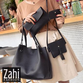 ZAHI FASHION Suzy 4 in 1 Korean Shoulder Bag (Black)