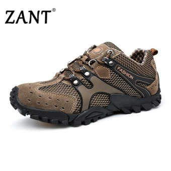ZANT 2017New hiking shoes outdoor breathable sports walkinganti-skid wear-resistant travel shoes(Brown) - intl