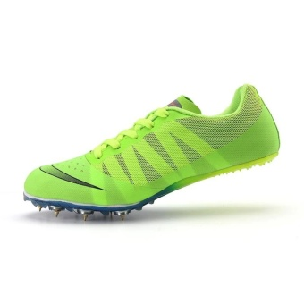 ZANT Track Sports Running Shoes Spike Spikes Athletics TrainingShoes (Green) - intl - 2