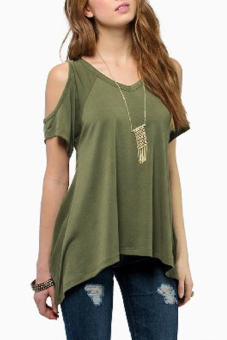 zanzea Off Shoulder Sleeve Loose Blouse (Green) - intl Price Philippines