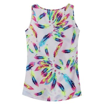 ZANZEA Womens Chiffon Feather Tank Top Summer Casual Loose Vest Price Philippines