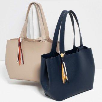 Zara Soft Mini Tote Bag (Beige) - 3