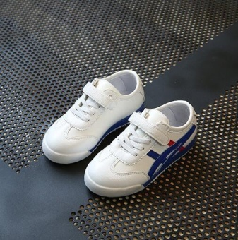 ZH Boy's Sports Shoes With White Shoes And Casual Shoes Blue - 3