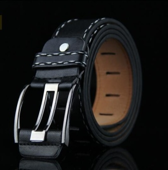 ZH The men's fashion belt has a retro fashion accessory belt black