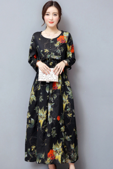 Zhu Ma autumn New style loose dress