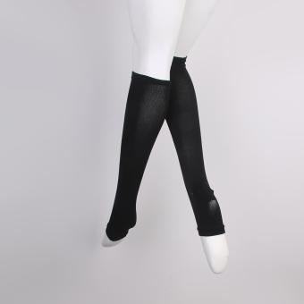 Zipper Compression Socks Zip Leg Support Knee Stockings Open Toe Black XXL - 5