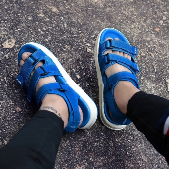 ZNPNXN Lovers Shoes Summer New Style Trend Men Slippers Comfortable And Soft Mens Shoes Fashion High End Leisure Sports Sandals Size 35-44 Yards (Blue) - intl - 4
