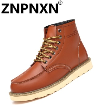 ZNPNXN Men'S Martin Boots Leather Boots Men'S Boots Desert Boots High Men'S Shoes Men'S (Brown) - intl Price Philippines