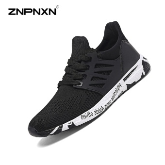 ZNPNXN Men'S Shoes Fashion Outdoor Sports Shoes The Summer Sports Shoes Shoes Lightweight Running Shoes Mens Shoes Luxury Size 39-44 Yards (Black) - intl