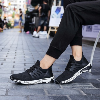 ZNPNXN Men'S Shoes Fashion Outdoor Sports Shoes The Summer Sports Shoes Shoes Lightweight Running Shoes Mens Shoes Luxury Size 39-44 Yards (Black) - intl - 2