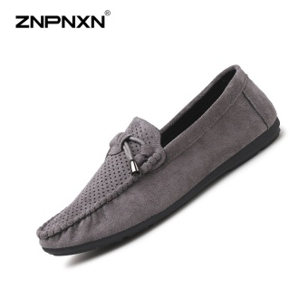 ZNPNXN Men'S Shoes Superior Quality Trend Shoes Peas Shoes Casual Shoes Loafers Mens Shoes Casual Luxury Fashion Sports Shoes Mens Dress Shoes Size 39-44 Yards (Grey) - intl