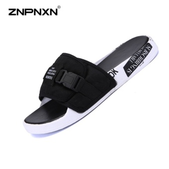 ZNPNXN Men'S Shoes Trend Men Slippers Comfortable And Soft MensShoes Fashion Trends Shoes Designer Shoes Men High Quality Size39-44 Yards (Black) - intl Price Philippines