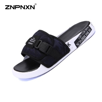 ZNPNXN Men'S Shoes Trend Men Slippers Comfortable And Soft MensShoes Fashion Trends Shoes Designer Shoes Men High Quality Size39-44 Yards (Blue) - intl Price Philippines