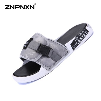 ZNPNXN Men'S Shoes Trend Men Slippers Comfortable And Soft MensShoes Fashion Trends Shoes Designer Shoes Men High Quality Size39-44 Yards (Grey) - intl Price Philippines