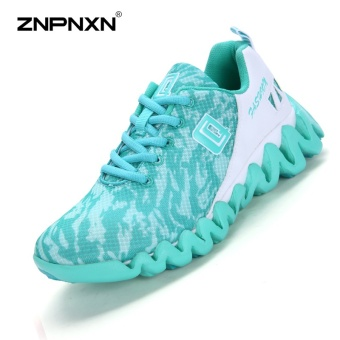 ZNPNXN Women'S Shoes Net Cloth Air Cushion Running Shoes Bradyseism Stylish And Comfortable Gym Shoes Women Shoes (Green) - intl