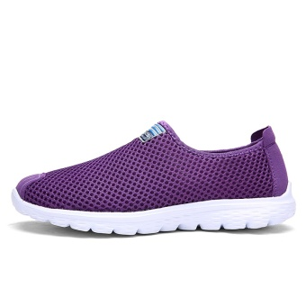 ZNPNXN Women'S Shoes Slip-On Net Cloth Shoes Slip On Shoes For Women Casual Breathable Comfort Shoes Womens Spring ShoesZapatillas Mujer(Purple) - intl - 3