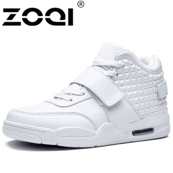 ZOQI Man's Fashion Big Size Sneakers High Cut Sport Casual Running Shoes (White) - intl
