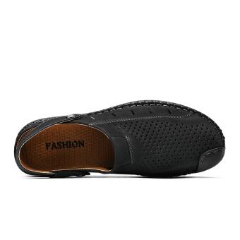ZOQI Men's Fashion Casual Beach Shoes Summer Sandals Slipper(Black)- intl - 4