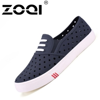 ZOQI Men's Fashion Summer Clogs Simple Casual Shoes(Grey) - intl