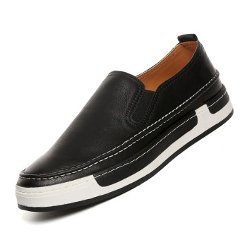 ZOQI Summer Man's Slip-Ons&Loafers Fashion Casual Breathable Comfortable Shoes-Black
