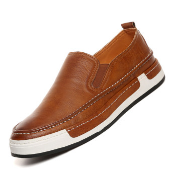 ZOQI Summer Man's Slip-Ons&Loafers Fashion Casual Breathable Comfortable Shoes-Brown