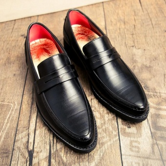 ZORO Men Flats Business Quality Leather Shoes Mens Lace Up Dress Wedding Party Fashion Shoes (Black) - intl