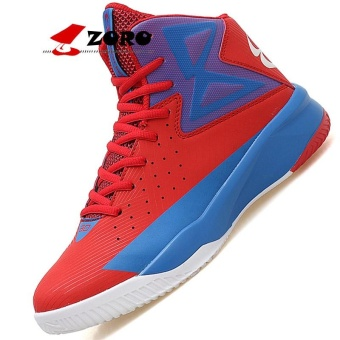 ZORO Men's and Women's Professional Basketball Shoes Air Cushion Sneakers Sport Shoes - Red - intl