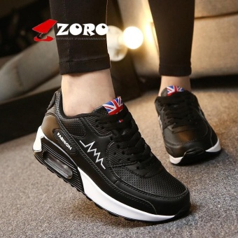 ZORO Women Sneakers Breathable Running Shoes Sport Shoes For Women Outdoor Sneakers Sport Athletic Sneakers Sukan Wanita (Black and White) - intl